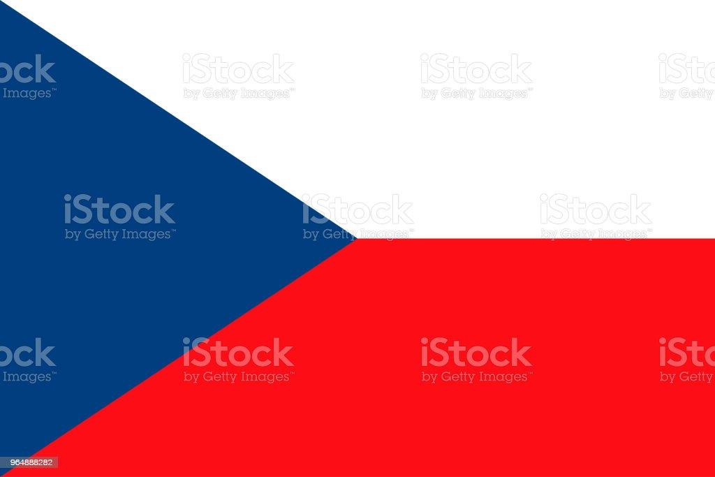 捷克共和國國旗, 向量插畫 - 免版稅原住民文化圖庫向量圖形