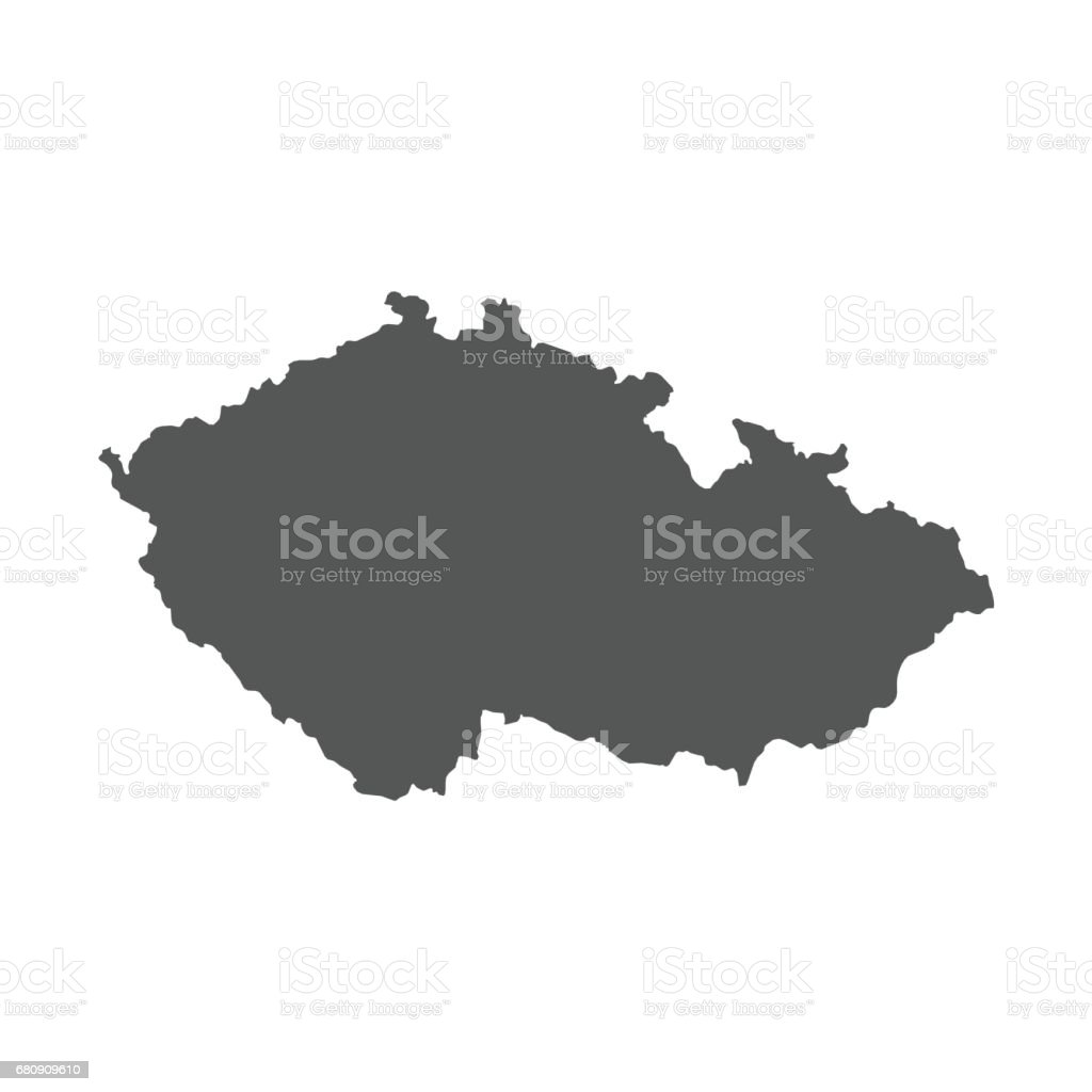 Czech Republic vector map. royalty-free czech republic vector map stock vector art & more images of black color