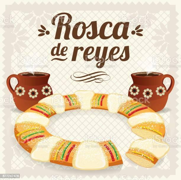 Día De Reyes Composition Copy Space - Arte vetorial de stock e mais imagens de Anel - Joia