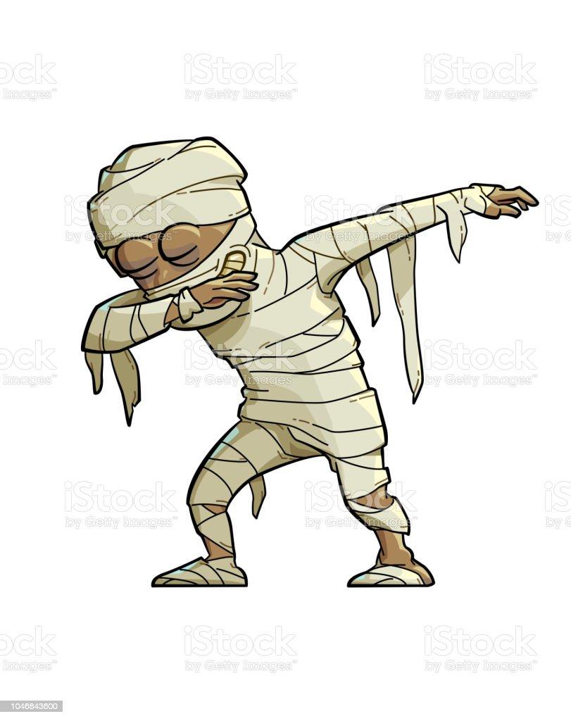 Dabbing Mummy vector art illustration