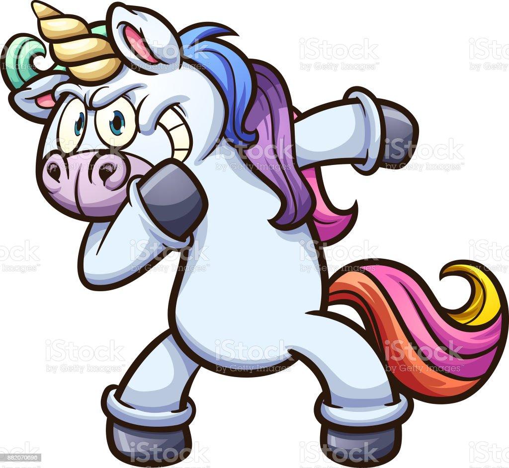 Dabbing unicorn illustration