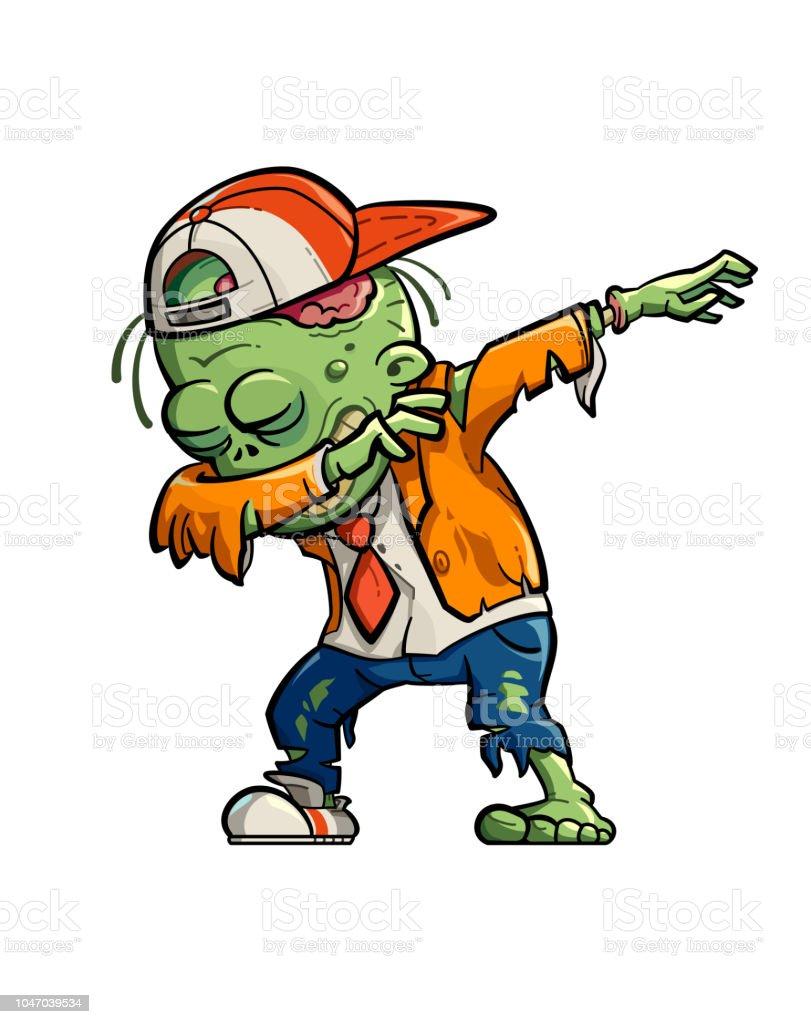 Dabbing Zombie vector art illustration