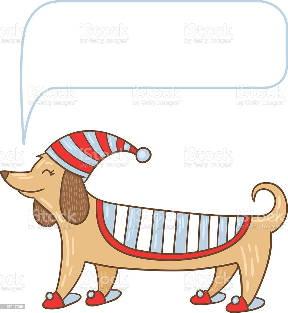 Dachshund cute dog vector art illustration