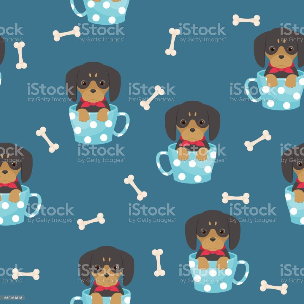 Dachshund puppy seamless pattern royalty-free dachshund puppy seamless pattern stock vector art & more images of animal