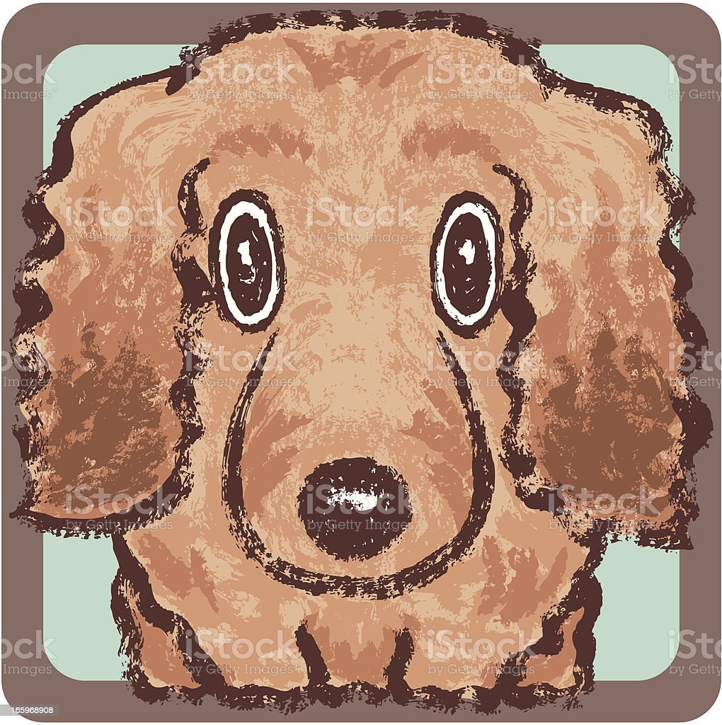 Dachshund square royalty-free stock vector art