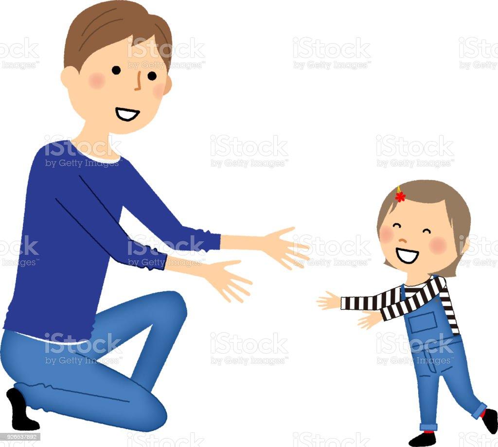 Ilustração De Pai E Filha E Mais Banco De Imagens De Adulto