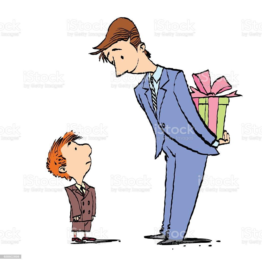 Dad And Son Birthday Gift Lizenzfreies Stock Vektor Art Und Mehr