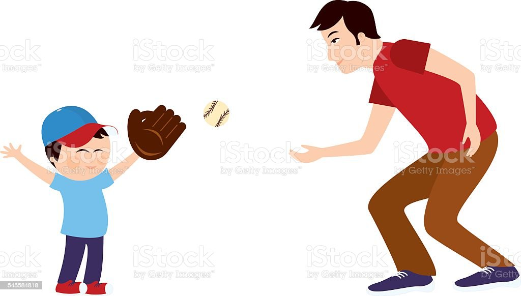 royalty free father son playing baseball clip art vector images rh istockphoto com mother father and son clipart dad and son clipart