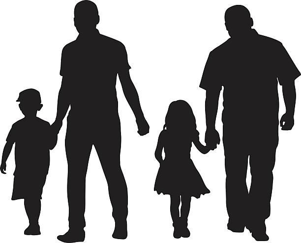 ilustraciones, imágenes clip art, dibujos animados e iconos de stock de dad de niños - hija