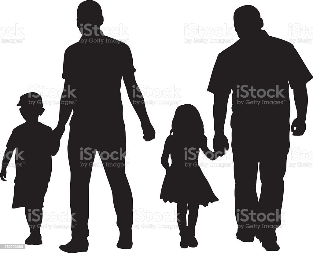 dad kid vector art illustration