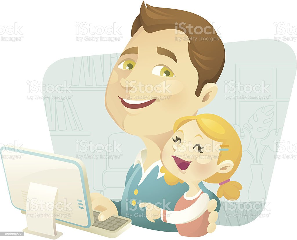 Daddy's Girl royalty-free stock vector art