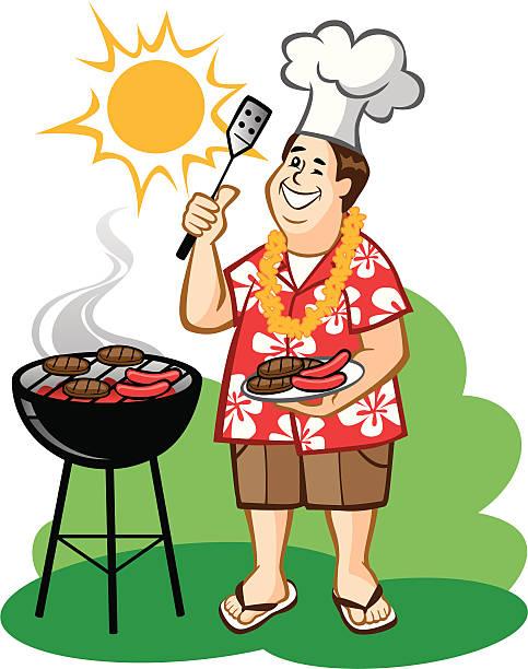 Dad's Barbecue (BBQ) vector art illustration