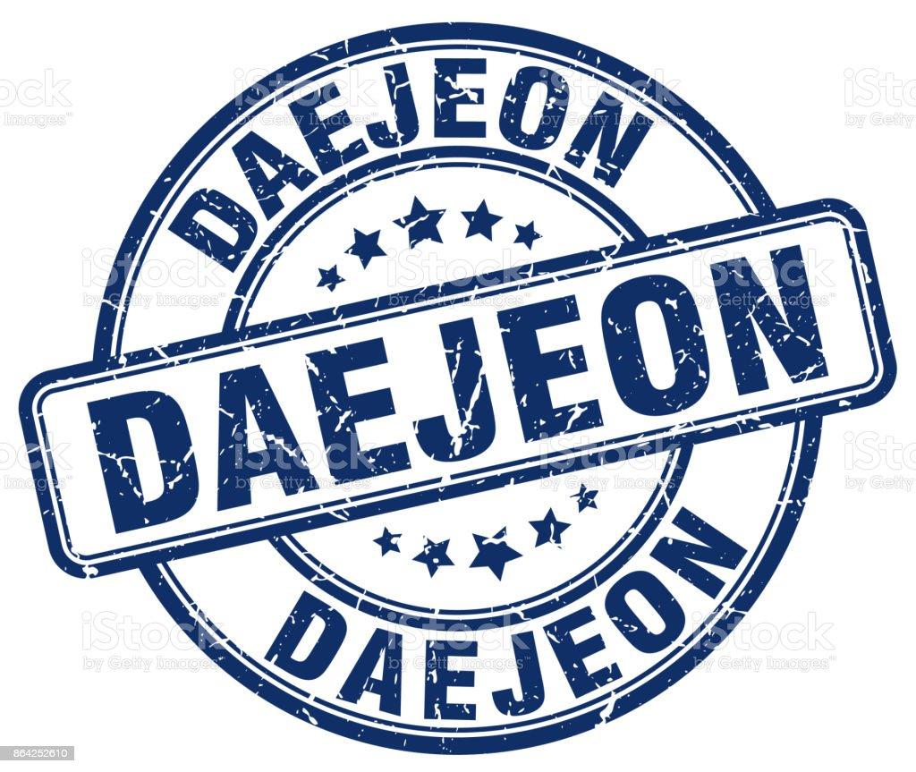Daejeon blue grunge round vintage rubber stamp royalty-free daejeon blue grunge round vintage rubber stamp stock vector art & more images of badge