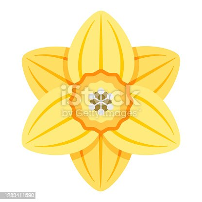 istock Daffodil Icon on Transparent Background 1283411590