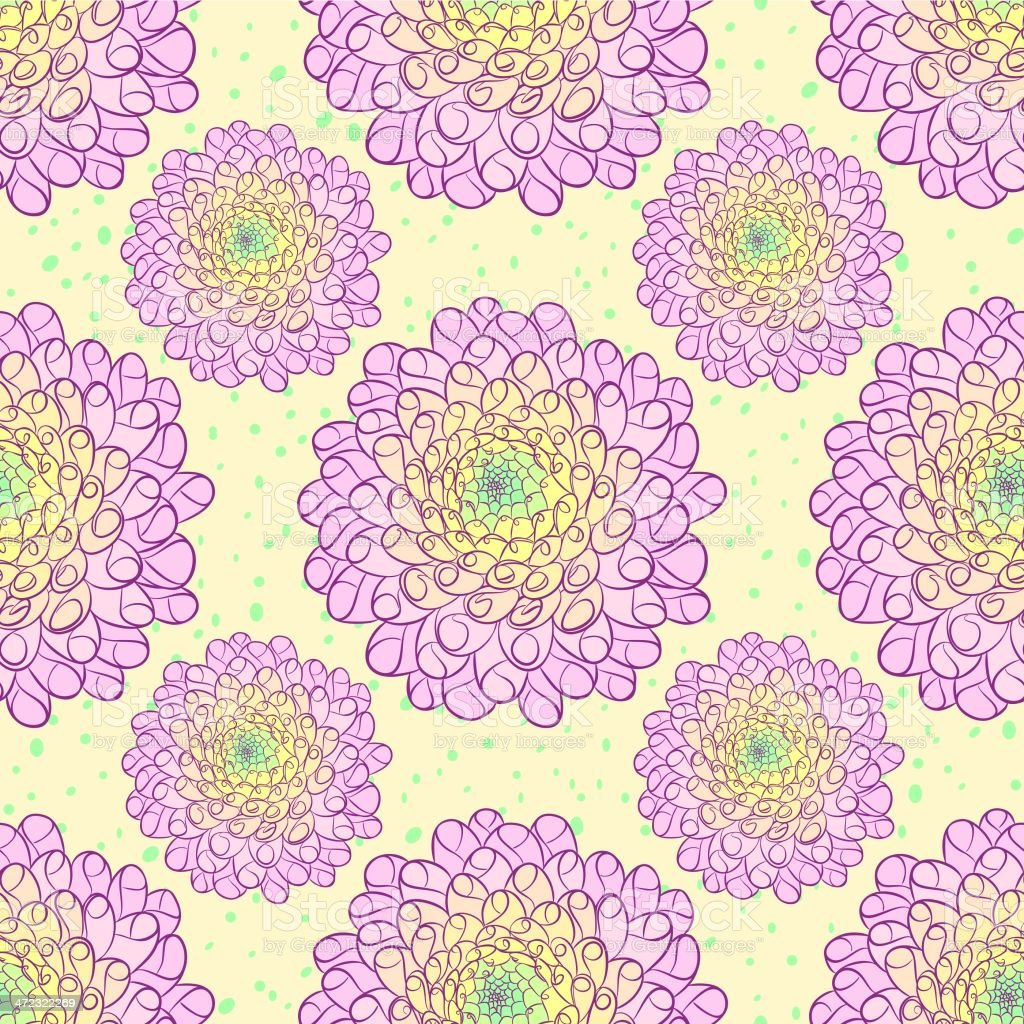 Dahlia seamless pattern royalty-free dahlia seamless pattern stock vector art & more images of abstract