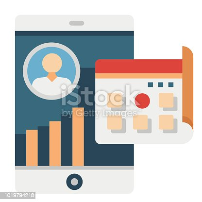 Daily active user vector illustration in flat color design