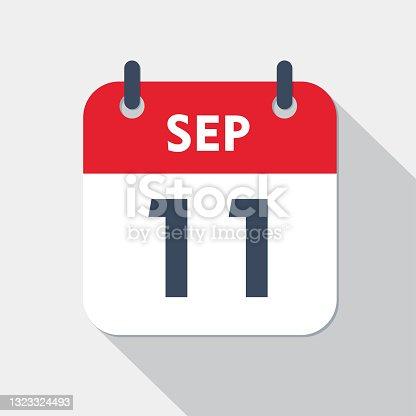 istock Daily calendar Icon - 11 September 1323324493