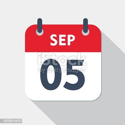 istock Daily calendar Icon - 5 September 1323324422