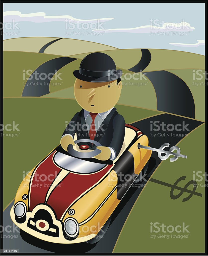Daily Commute royalty-free stock vector art