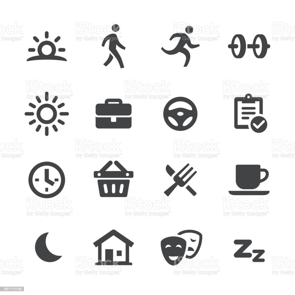 Daily Life Icons - Acme Series vector art illustration