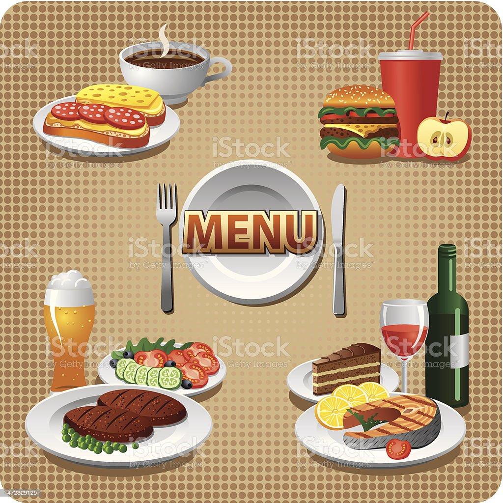 daily meals menu royalty-free stock vector art