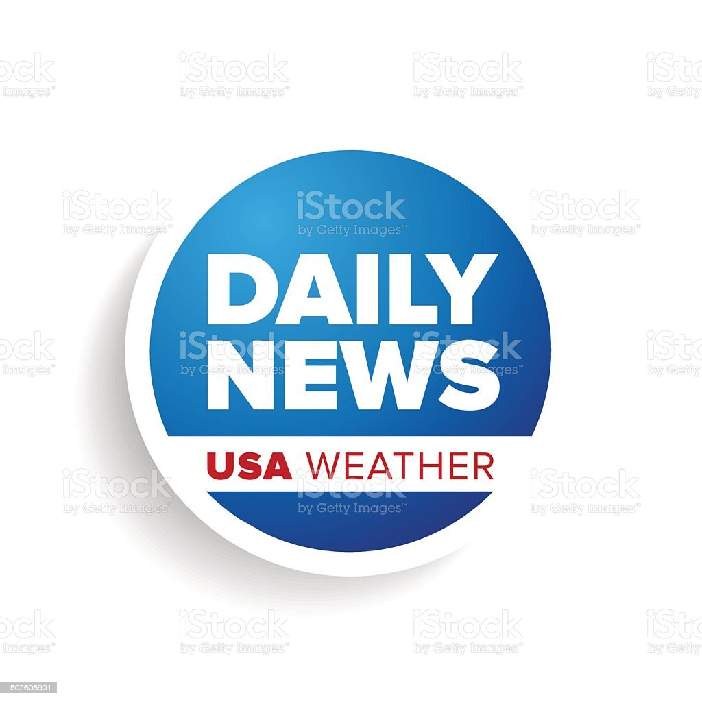 Daily news USA weather vector art illustration