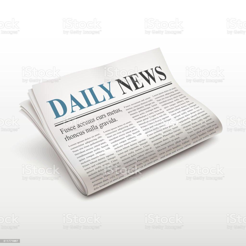 daily news words on newspaper vector art illustration