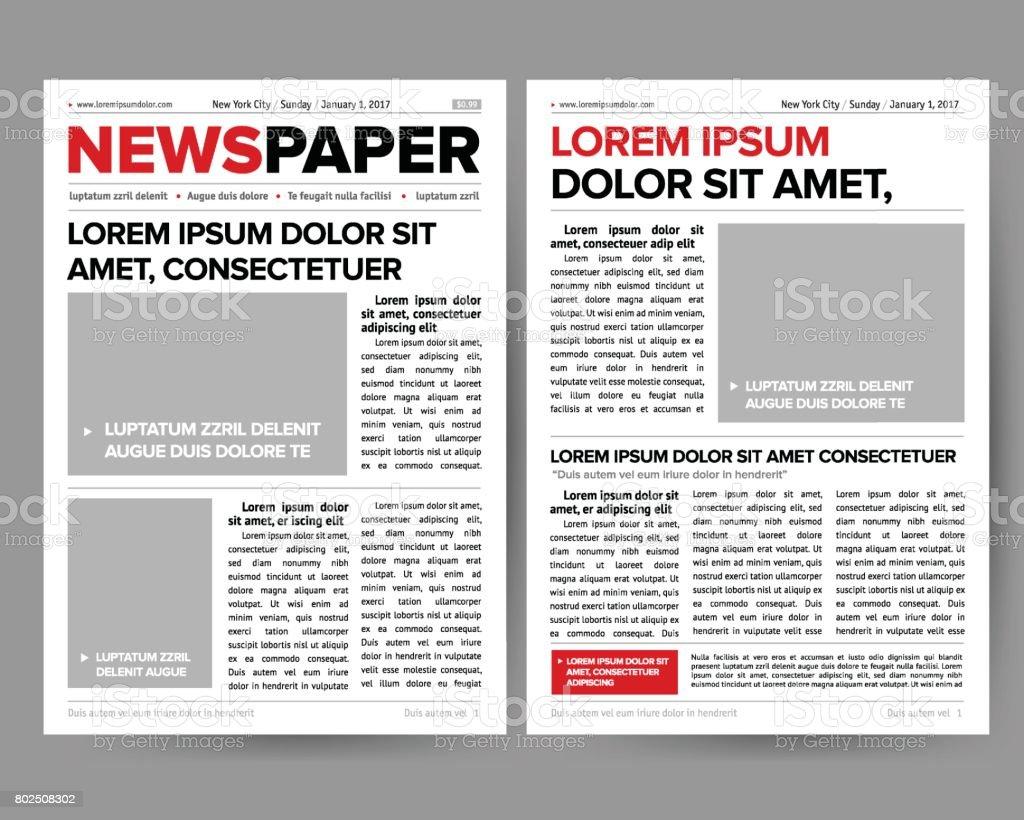 Plantilla De Diseño De Revista De Periódico Diario Con Apertura De ...