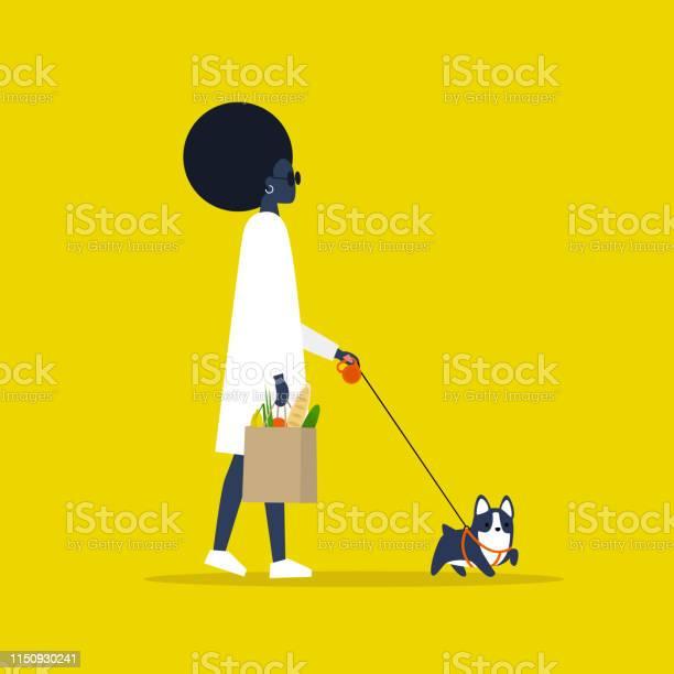 Daily routine modern lifestyle young black female character holding a vector id1150930241?b=1&k=6&m=1150930241&s=612x612&h=mtmyo1onkii1jpg5z8hubpitepuqurwpwcodz6 6yus=