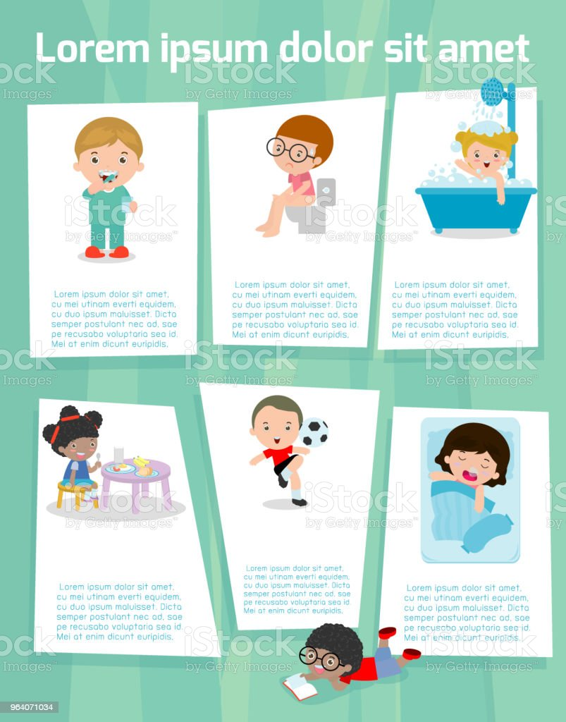 Daily Routines For Kids Daily Routine Of Child Template For