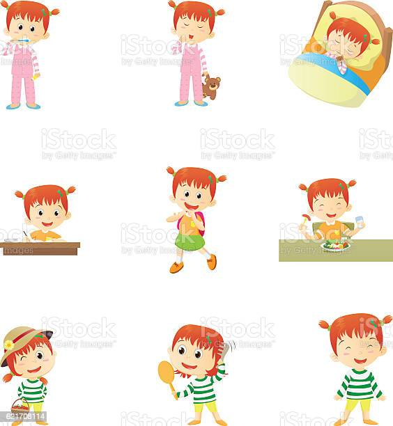 Daily routines for kids vector id621708114?b=1&k=6&m=621708114&s=612x612&h=2smretrc8wz8eba4qhdmaqzghal94qcdlswiqigkr0m=