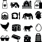 Dairy and Egg icons. Professional vector icons for your print project or Web site. See more in this series.