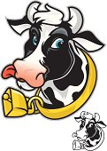 This  dairy cow is happy to deliver. This version comes both with a full color as well as a black and white version.