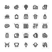 Dairy Farm Icons - Bold Line Series