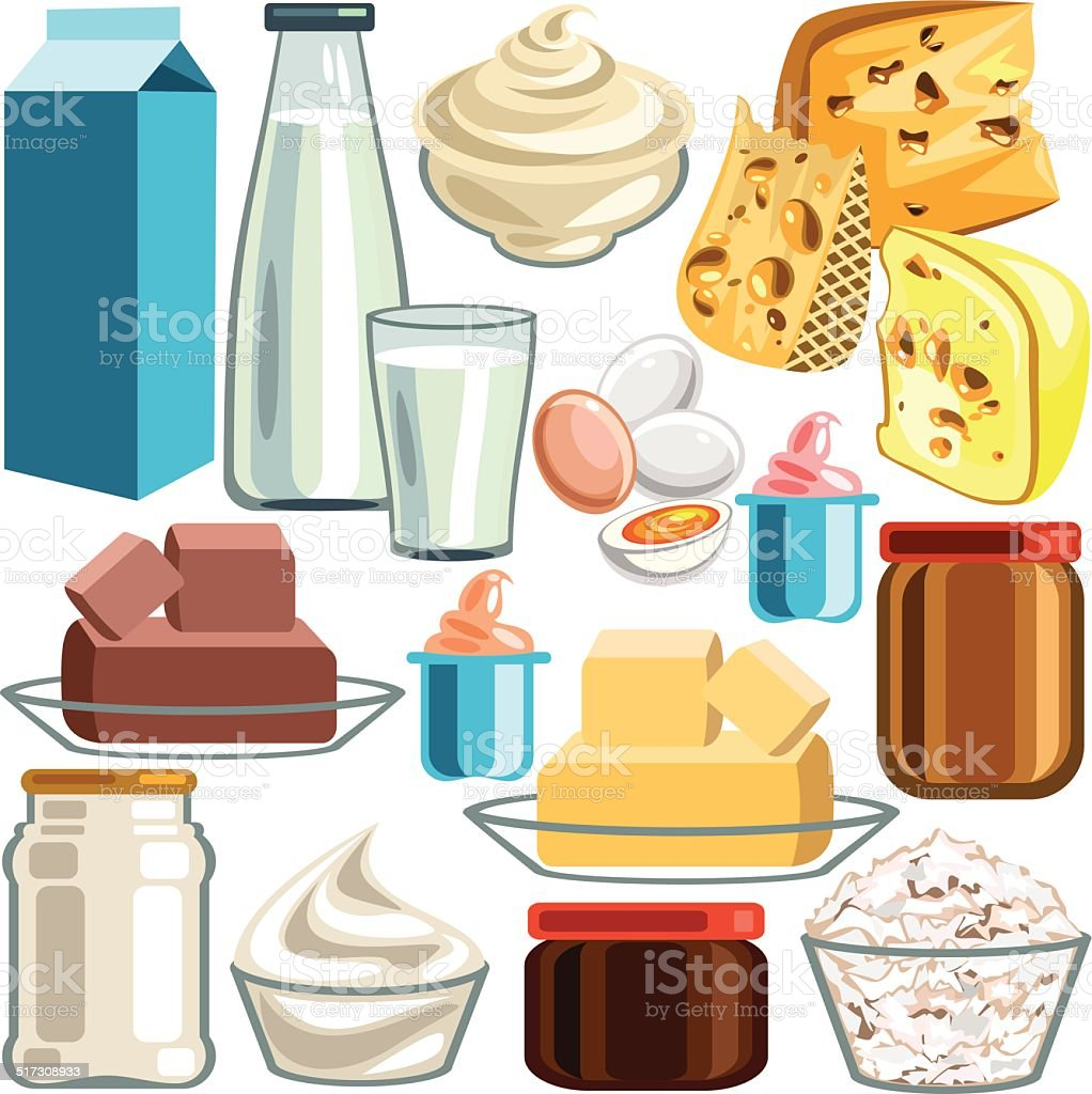 Dairy Product vector art illustration