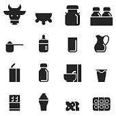 Dairy Products Icons [Black Edition]