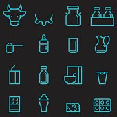 Dairy Products Icons [Glow in the Dark]