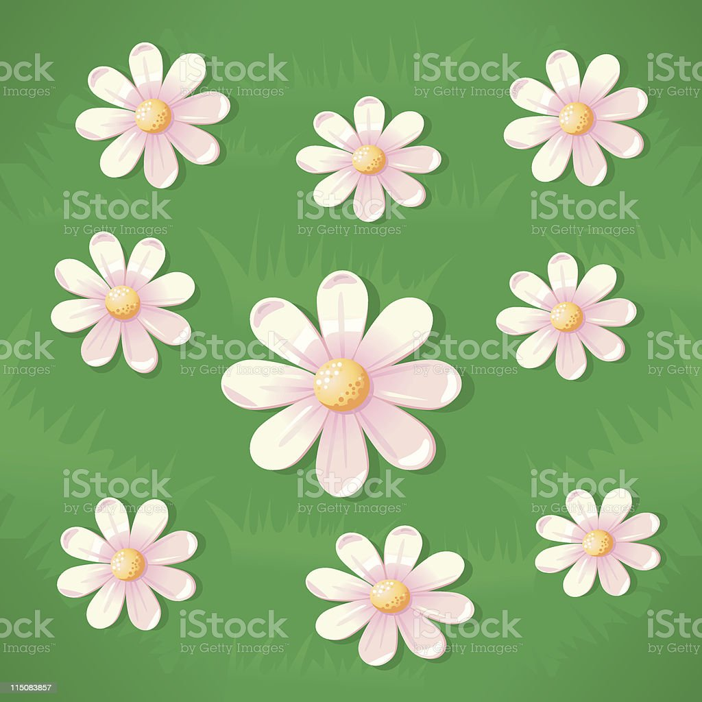 Daisies Background royalty-free daisies background stock vector art & more images of beauty
