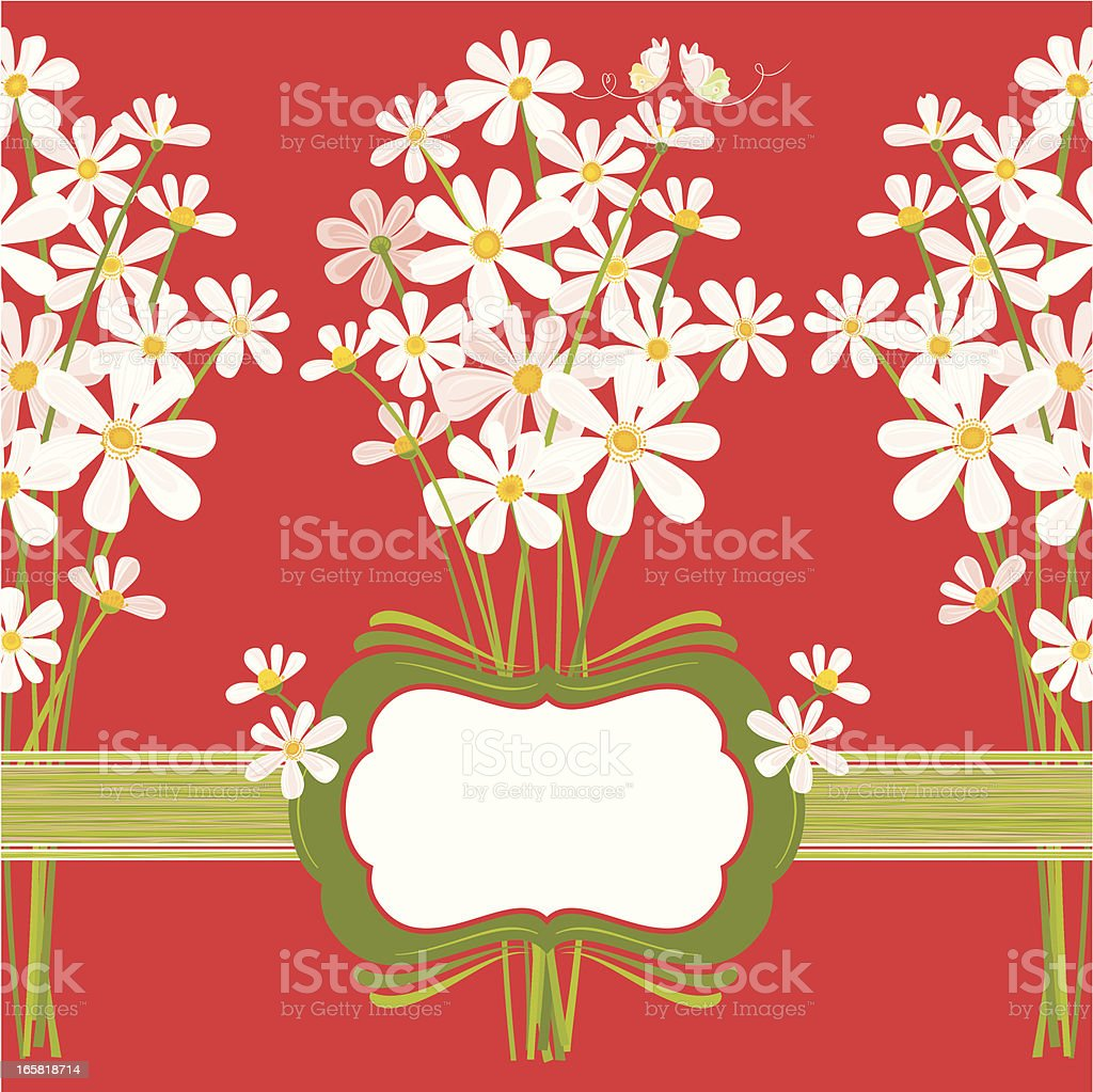 Daisies on Red royalty-free daisies on red stock vector art & more images of abstract