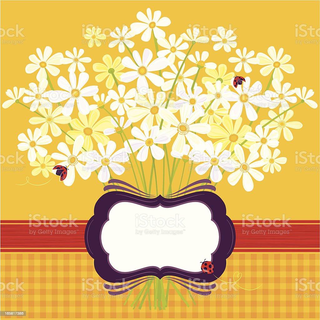 Daisies on Yellow royalty-free stock vector art