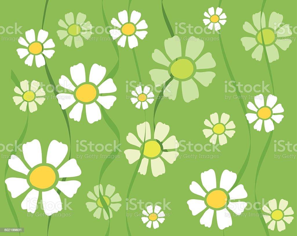 Daisy background royalty-free stock vector art