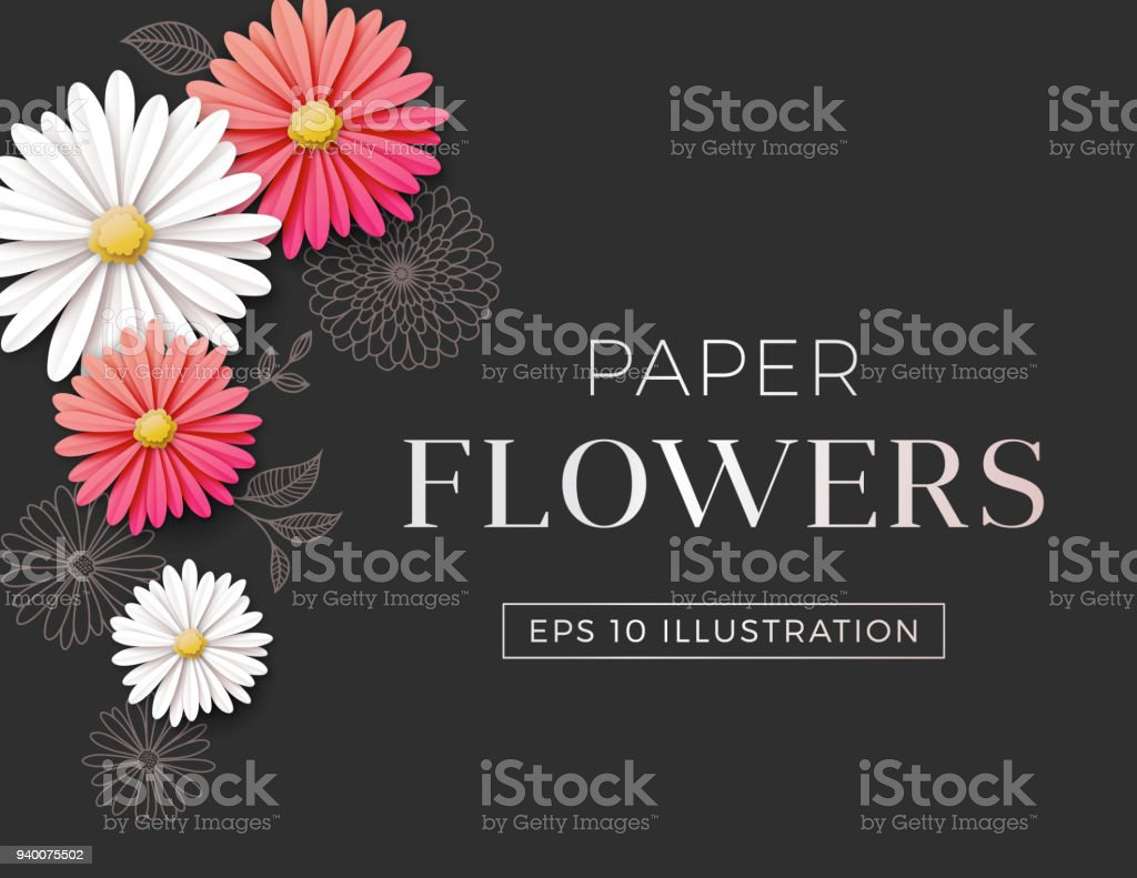 Daisy Flower Background Stock Vector Art More Images Of