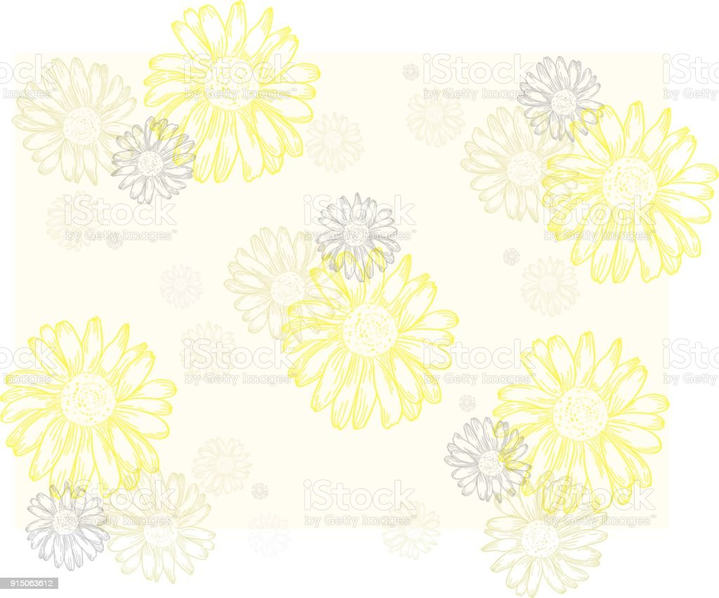 Daisy Flower Pattern Stock Vector Art More Images Of Blossom