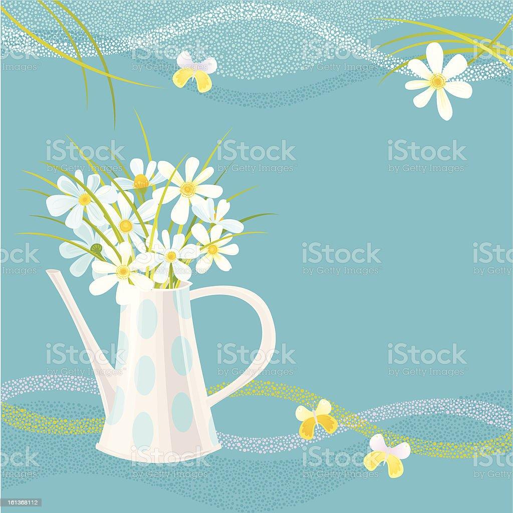 Daisy Greeting Card - Royalty-free Abstract stock vector