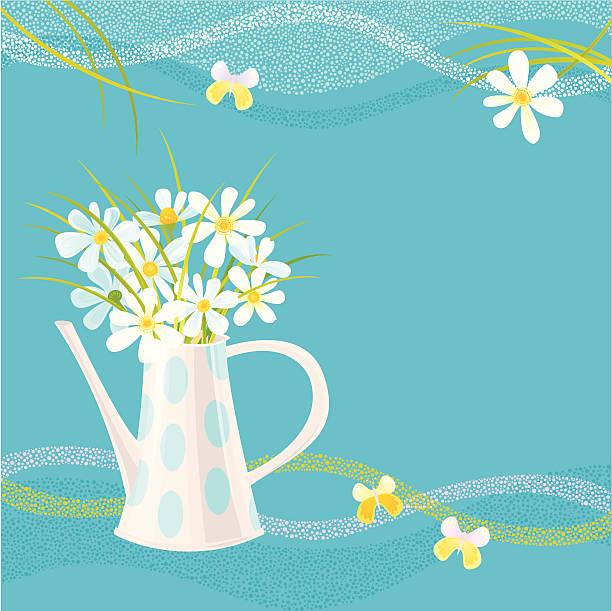 Daisy Greeting Card vector art illustration