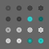Daisy Icon Multi Series Vector EPS File.