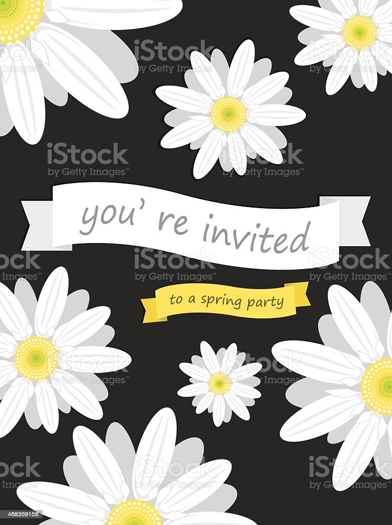 daisy invite card royalty-free daisy invite card stock vector art & more images of 2015