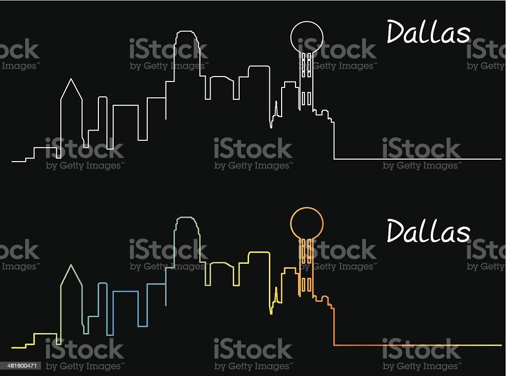 Dallas City vector art illustration