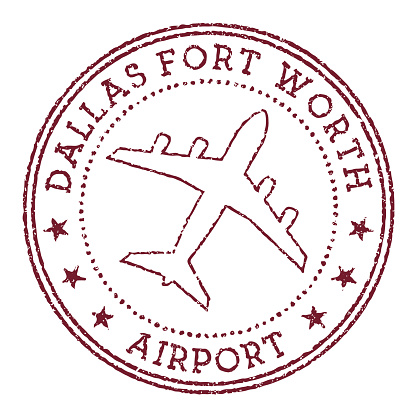 Dallas Fort Worth Airport stamp.