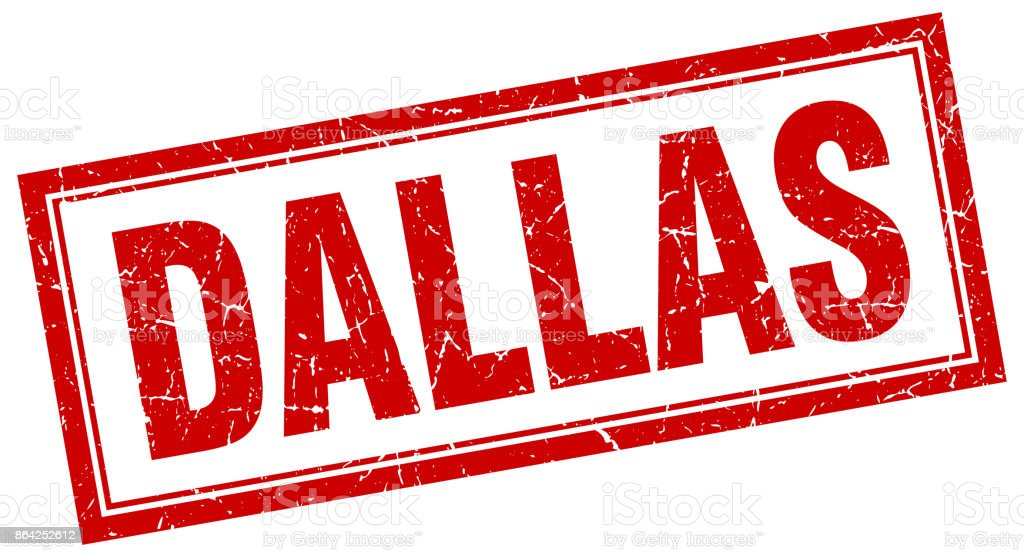 Dallas red square grunge stamp on white royalty-free dallas red square grunge stamp on white stock vector art & more images of cut out